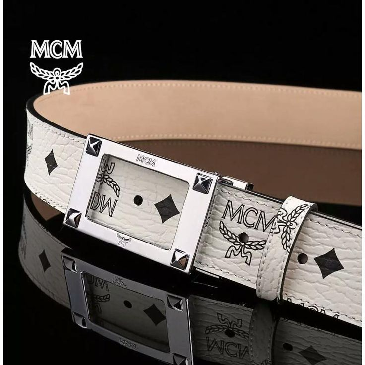 MCM 1 : 1 Quality Belts, Top Layer Leather Blets, Steel Buckle