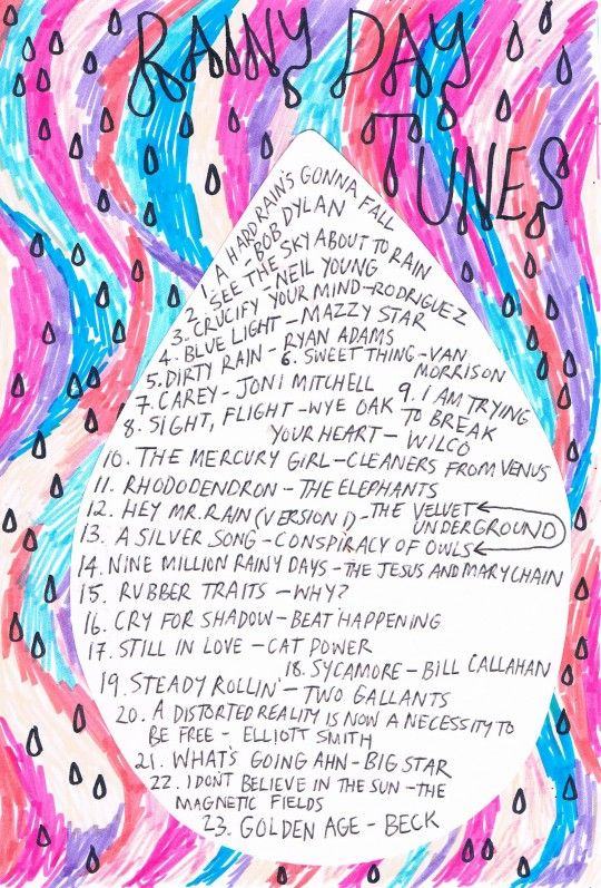 rainydaytuneslist via Rookie Magazine    http://rookiemag.com/2012/11/friday-playlist-rainy-day-tunes/