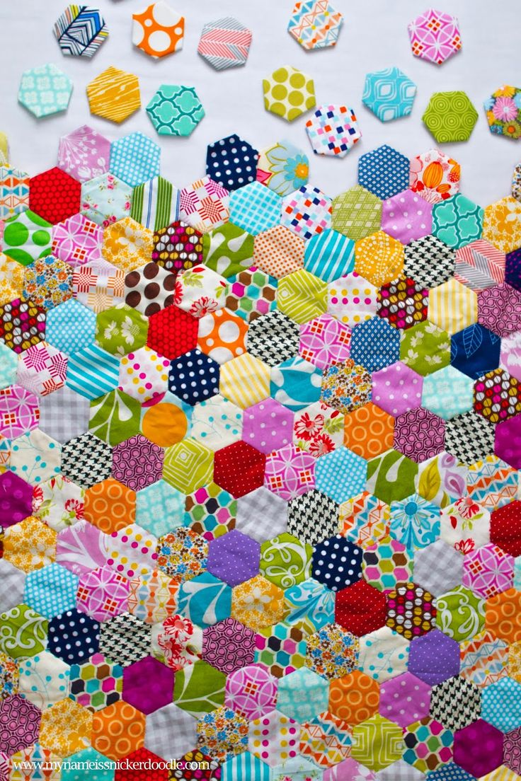How To Start A Hand Stitched Hexagon Quilt | My Name Is Snickerdoodle