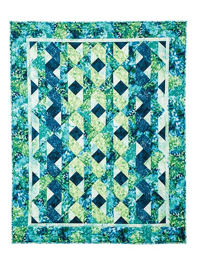 The woven effect of this quilt is achieved with pieced blocks set on the diagonal. Perfect for a cool spring or summer evening. Make your quilt look just like the sample when you use the Bittersweet Fabric Pack, below. Fabric pack includes everything...