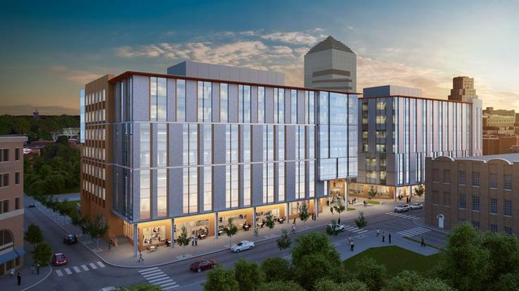 The first two new office buildings proposed for the Durham.ID project in…