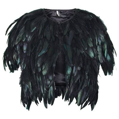 Feather cape from Topshop - http://www.allaboutyou.com/fashion-and-beauty/buys/party-accessories-christmas-party-costume-jewellery?page=5