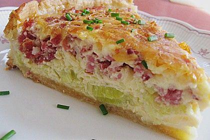 Lauchkuchen (Rezept mit Bild) von nadjazett   Chefkoch.de