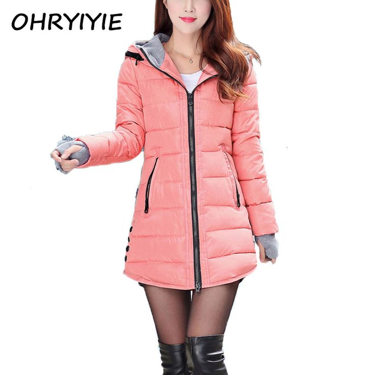 OHRYIYIE 2017 Women's Autumn Winter Jacket Long Parkas For Women Hooded Warm Cotton Padded Lady Jackets And Coats Manteau Femme Jetzt bestellen unter: https://mode.ladendirekt.de/damen/bekleidung/jacken/winterjacken/?uid=6a2af2f4-04db-5dea-943a-be0f5895a432&utm_source=pinterest&utm_medium=pin&utm_campaign=boards #winterjacken #bekleidung #jacken