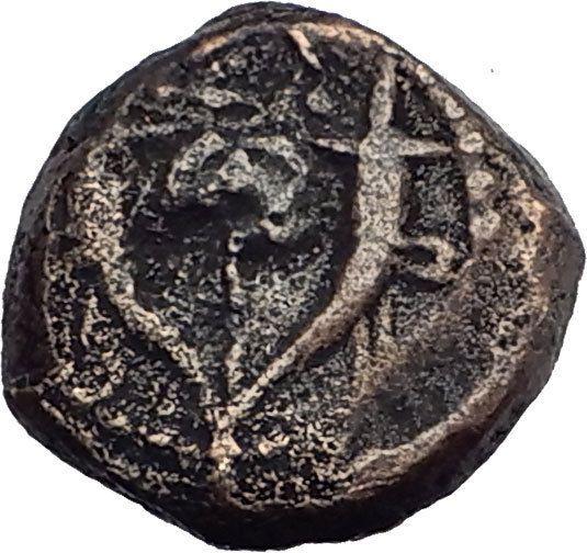 Jewish King ALEXANDER JANNAEUS Ancient Jerusalem WIDOW's MITE Bible Coin i62714