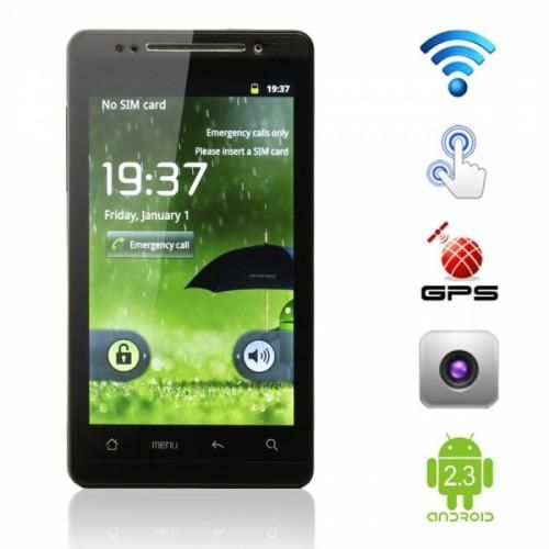 "4.3"" Touch Screen Black Android Phone #DIGI4LESS"