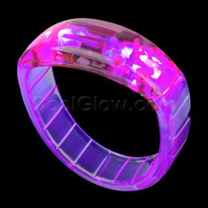 Share CoolGlow with you Friends and Receive 5% on your order.  LED Bangle Bracelets - White - Glow Sticks, Glow Necklaces, Glow Bracelets, Wholesale Cheap Glow Sticks #http://pinterest.com/coolglow/