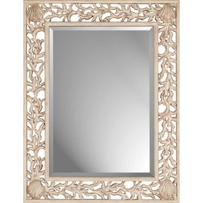 Coral Mirror lt  strong gt  lt br   gt  Whitewashed Coral beveled mirror designed by Malanta Knowles  lt br   gt  Primary color  White lt br   gt  Mirror size is x. 1000  images about Bathroom Mirrors on Pinterest   Blue mirrors