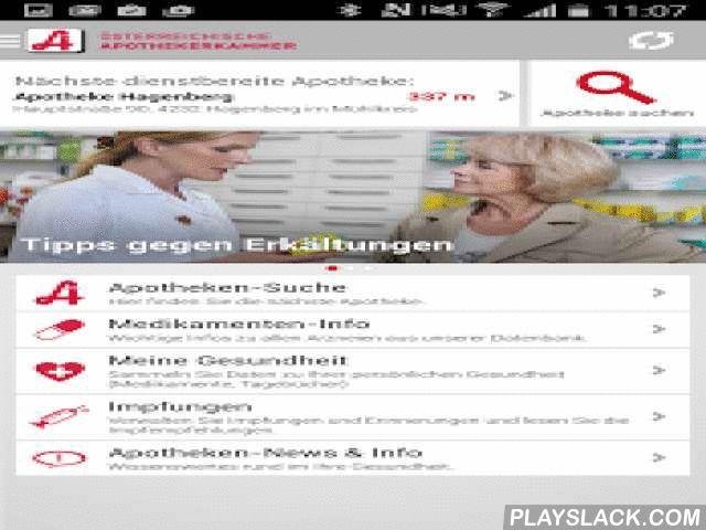 Apotheken Und Medikamente  Android App - playslack.com ,  Die nächste dienstbereite Apotheke, Infos über Ihre Medikamente, persönliche Medikamentenlisten mit Einnahmeerinnerung sowie die Möglichkeit, einen elektronischen Impfpass anzulegen und vieles mehr finden Sie in der offiziellen App der Österreichischen Apothekerkammer:- Apotheken-SucheDie App zeigt Ihnen alle dienstbereiten Apotheken in der Nähe an. Wenn Ihr GPS-Standort am Smartphone aktiviert ist, sehen Sie automatisch die Apotheken…