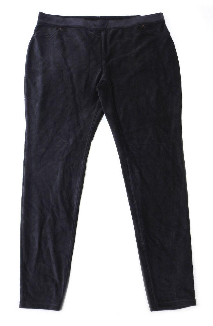 June & Daisy Women's Size X-Large Corduroy Legging Pant, Black