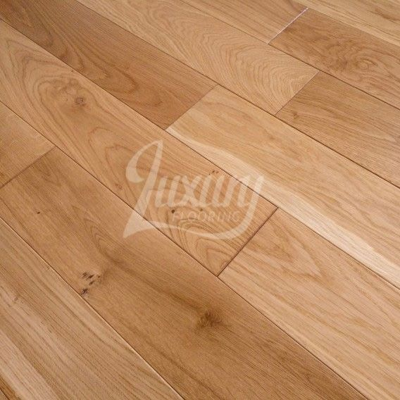 100mm Pearl Satin Lacquered Solid European Oak Wood Flooring, 20mm Thick