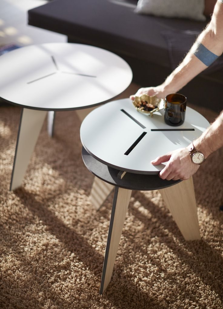 Nooii coffeetable with reversible topplate. Danish design and Danish production.
