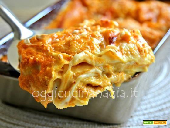 Lasagne alla zucca e taleggio - Ricetta | TrovaRicetta.com
