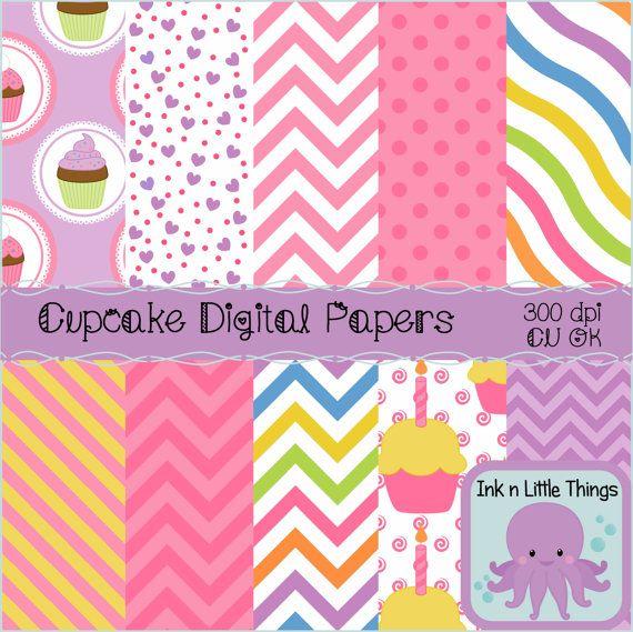 Digital Papers - Cupcake Digital Papers