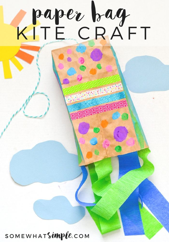 The kids will have so much fun decorating and making their very own paper bag kites - just in time for spring!