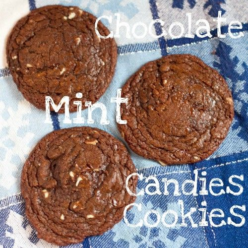 chocolate mint candies cookies #Christmas