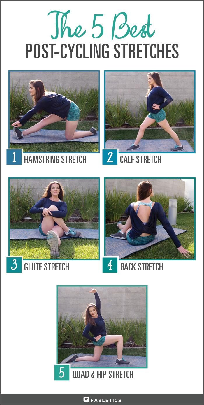 The 5 best stretches for spin or outdoor cycling. More on blog.fabletics.com