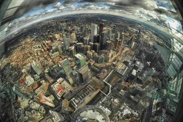 Toronto through a fisheye lens
