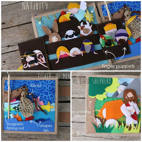 Bible stories Quiet book 20x20cm 8x8 1 page Choose your by TomToy