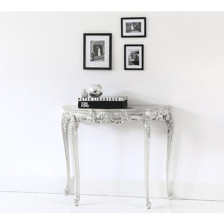 Sylvia Silver Console Table | Console Table