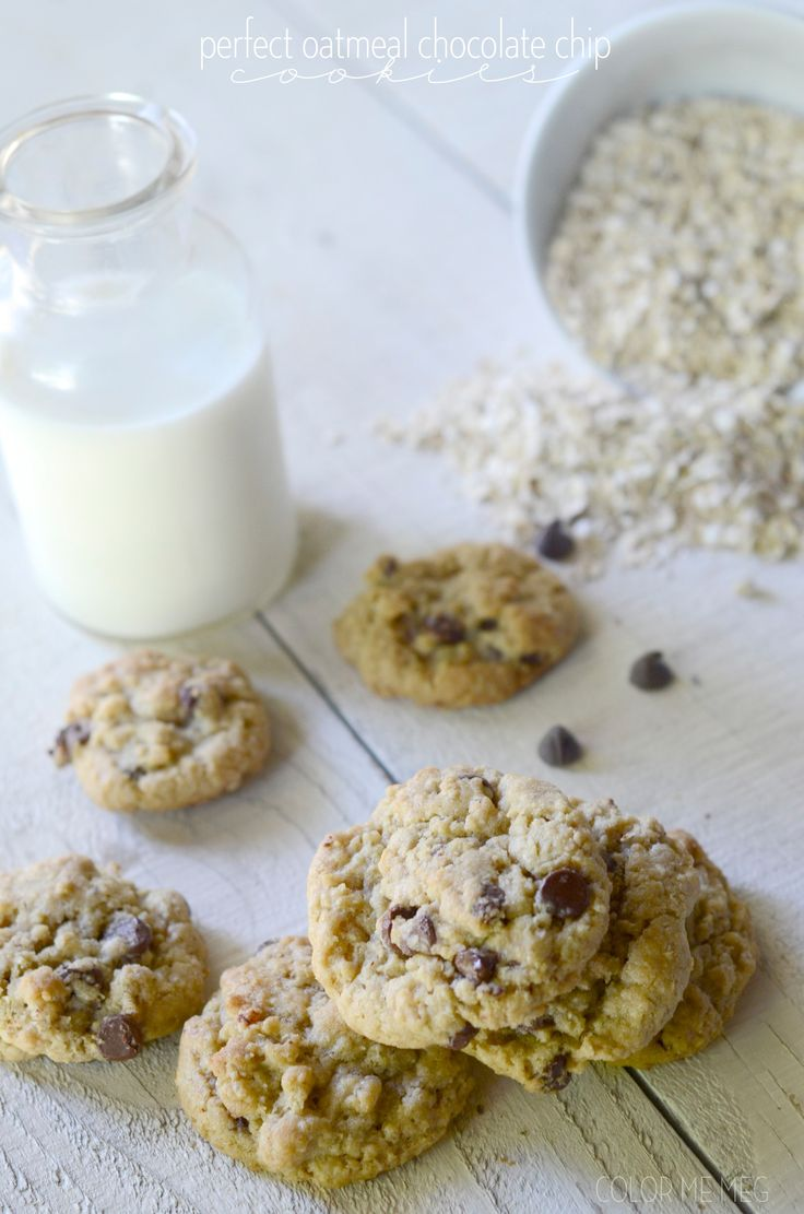 the perfect oatmeal chocolate chip cookies