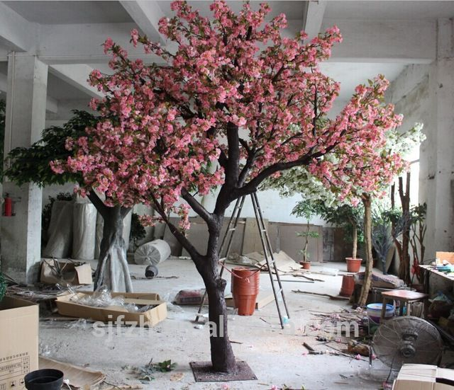 Source Customized 2.8m artificial cherry blossom tree in wedding decorations wholesale china plastic fake cherry blossom trees on m.alibaba.com