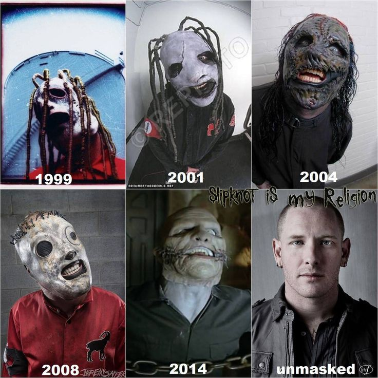 Corey Taylor's masks over the years.