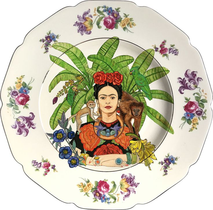 Frida Kahlo - Vintage Porcelain Plate - #0547 by ArtefactoStore on Etsy