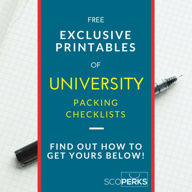 A Cover Picture For Free Exclusive University Packing Checklists As Printables