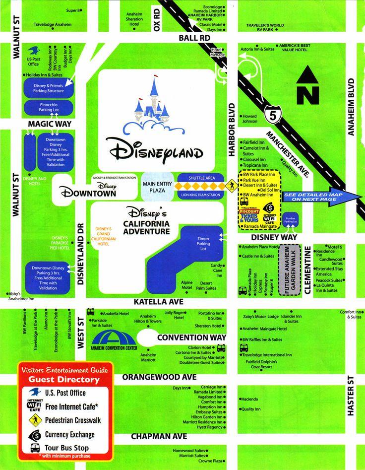 Hotel map disneyland pinterest
