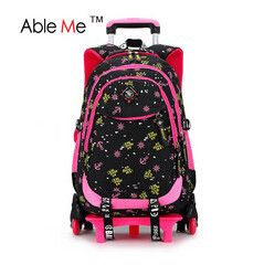 Junior High School Girls Schoolbag Trolley Bags Detachable Backpack Cute Korean Version Children Backpack For Teenagers
