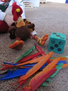 Turkey game and tons of other hands-on activities (Learning is Messy)
