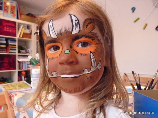 Gruffalo face paint