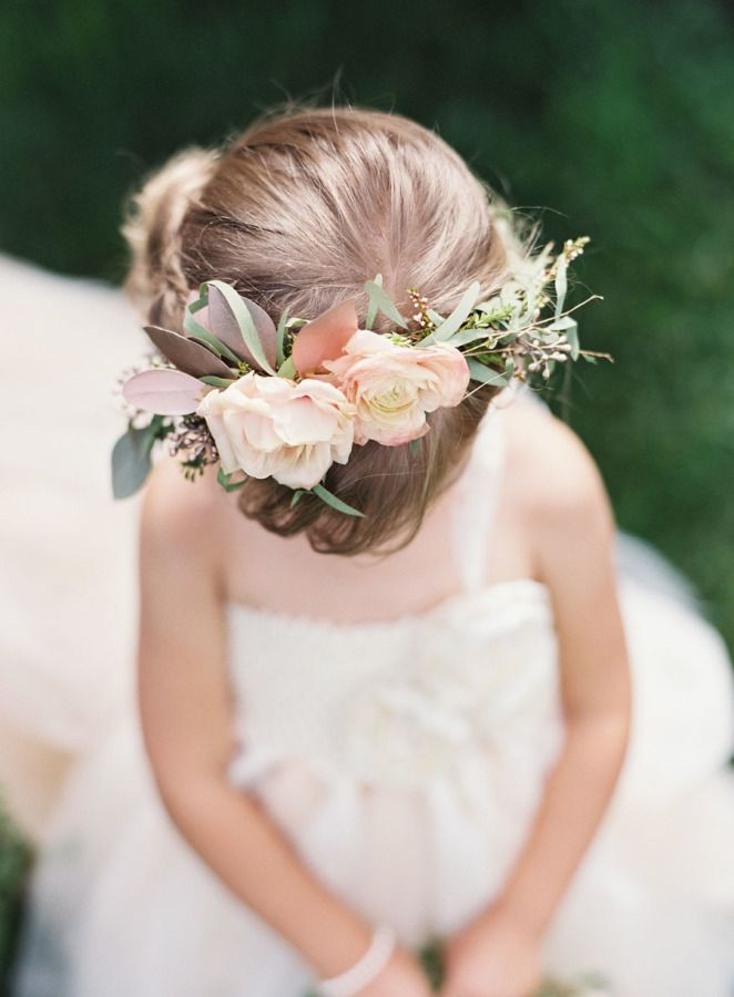 Adorable flower girl crown: http://www.stylemepretty.com/colorado-weddings/tabernash/2016/03/08/rustic-colorado-ranch-wedding-infused-with-southern-charm/ | Photography: Brett Heidebrecht - http://brettheidebrecht.com/