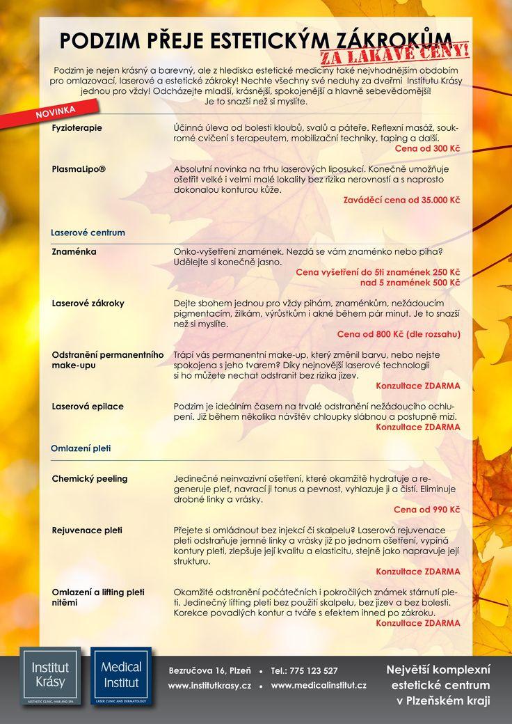 Podzimní slevy v Institutu Krásy! Omládněte se slevou!