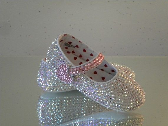 GORGEOUS bling baby shoes!   $115