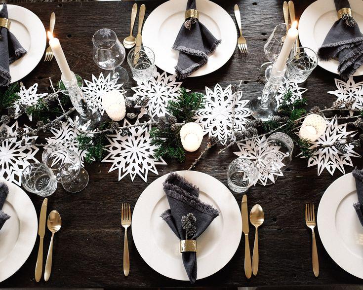25 einzigartige weihnachtliche tischdekoration ideen auf. Black Bedroom Furniture Sets. Home Design Ideas