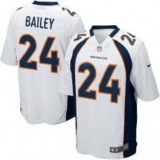Nike Elite Mens Denver Broncos http://#24 Champ Bailey White NFL Jersey $129.99