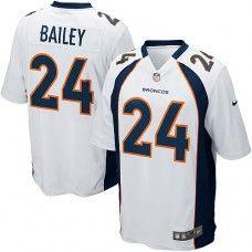 Nike Elite Mens Denver Broncos http://#24 Champ Bailey White NFL Jersey $129.99