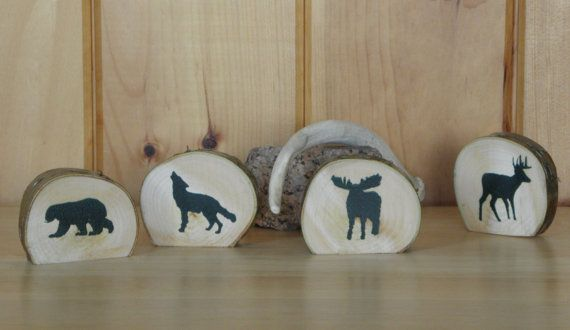 DECORATIVE WOODEN WILDLIFE Silhouettes by TheRusticWoodshed