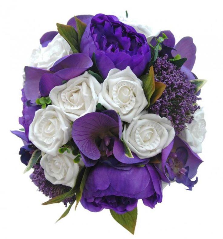 Cadbury Purple Silk Wedding Flowers : Best images about trachelium wedding flowers on