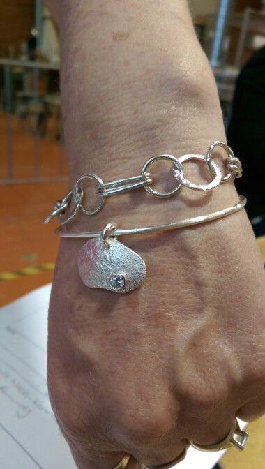 Bracelet with reticulated silver feature