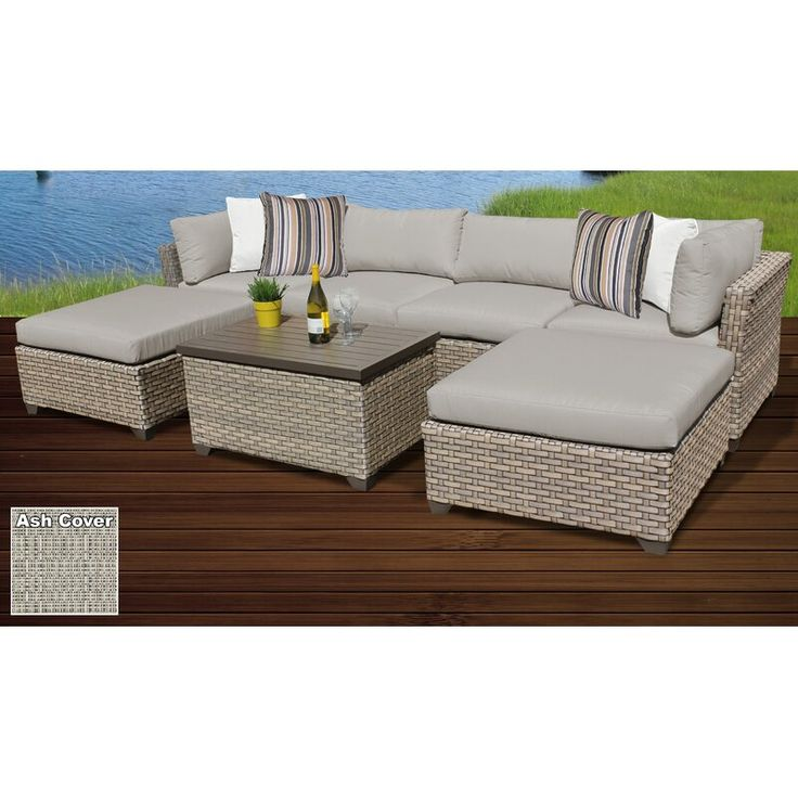 Best Sol 72 Outdoor Rochford 7 Piece Rattan Sectional Seating 400 x 300