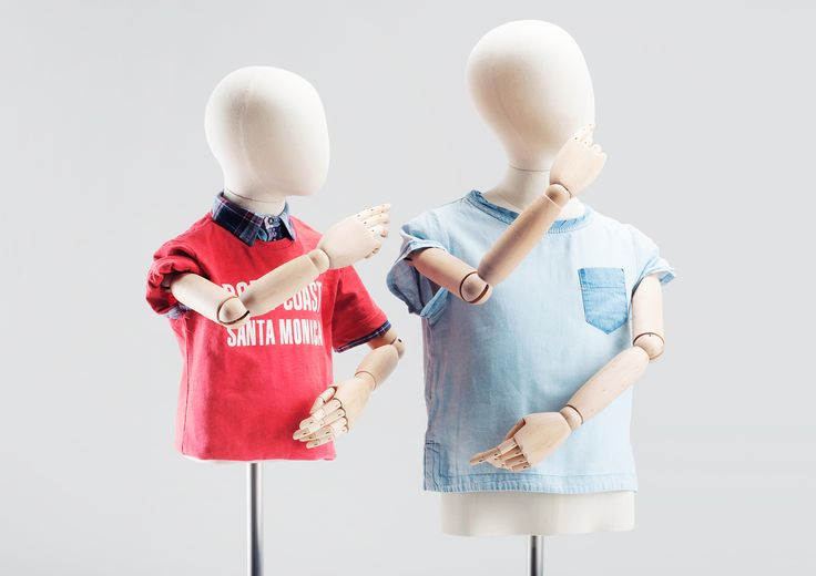 OLD MODERN KIDS - TORSOS #atelier #vintagemannequin #stickpuppet #limbs #kinsfashion