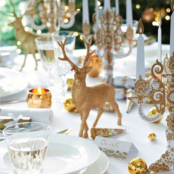 Great Ideas For Christmas Table Decorations Gold Christmas Table Decorations Diy Diy Christmas Table Christmas Table Decorations