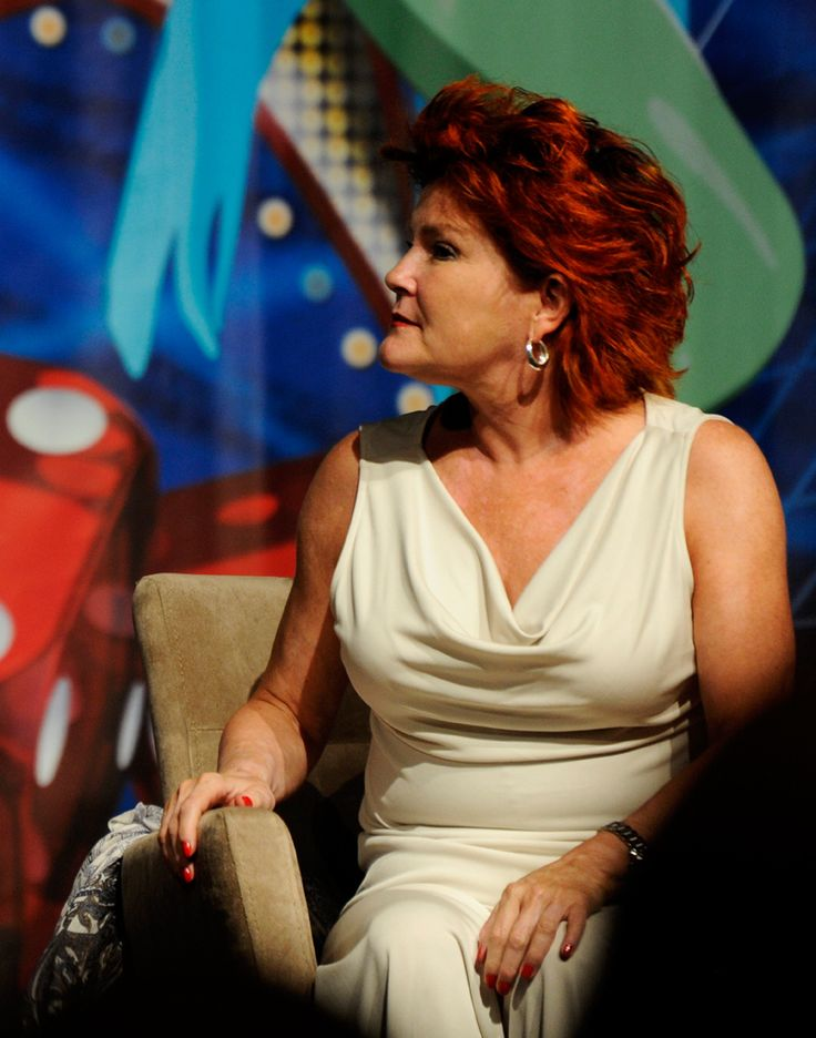 Kate Mulgrew ,elegant and engaged with whoever or whatever is off shot-Star trek Las Vegas 2013