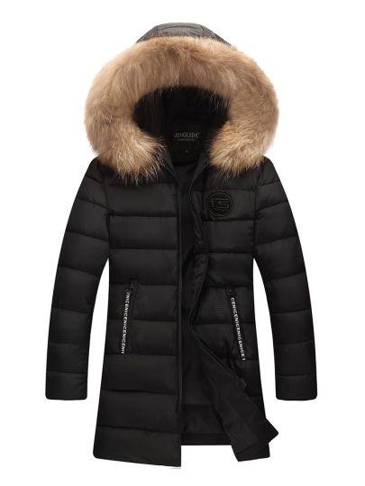 Tbdress.com offers high quality Shearling Thicken Warm Plain Men's Parka Jacket Men's Coats unit price of $ 59.99.