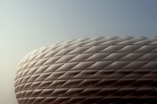 Herzog & deMeuron Allianz Arena, Munich: I don't really care so much for this, in daylight it's just a big dinghy...