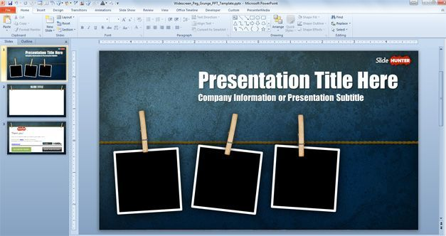 cinematic widescreen PowerPoint template