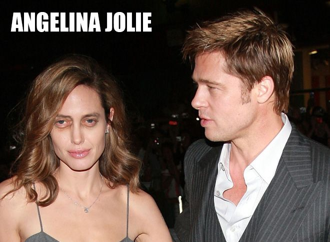 Angelina Jolie - Female Stars And Celebrities With Steve Buscemi Eyes (11 of 20 Pics)